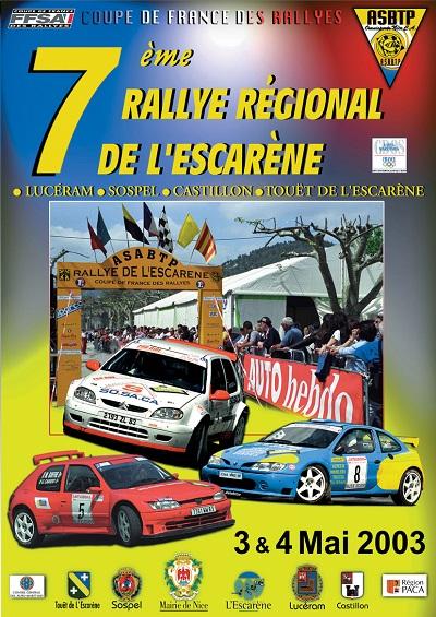 7eme Rallye Esc 2003 A