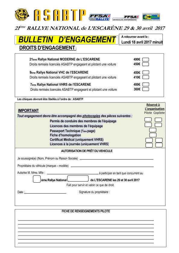 2017 BULLETIN D ENGAGEMENT P1