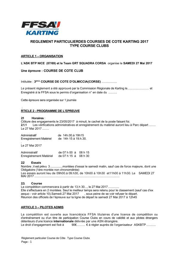 2017-Reglement-particulier Kart FFSA OLMICCIA -_page_001