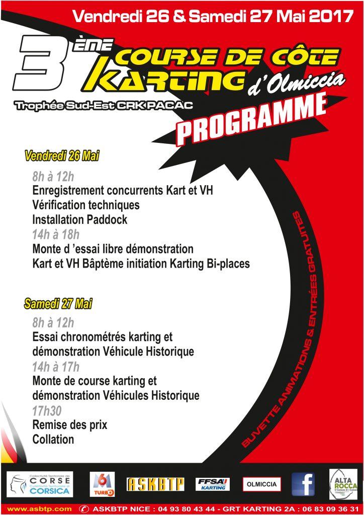 Programme de la course