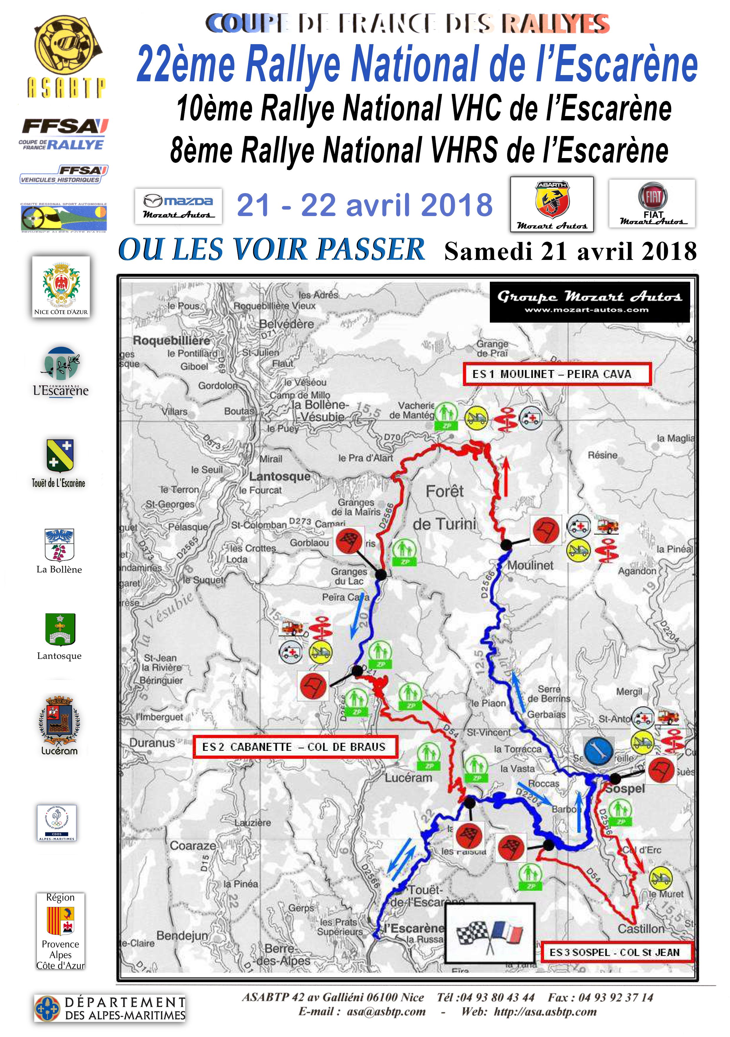 Carte Rallye 2018 A4 samedi